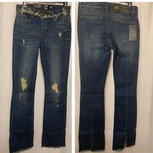 L&B Dark wash split hem boot cut jeans size 6